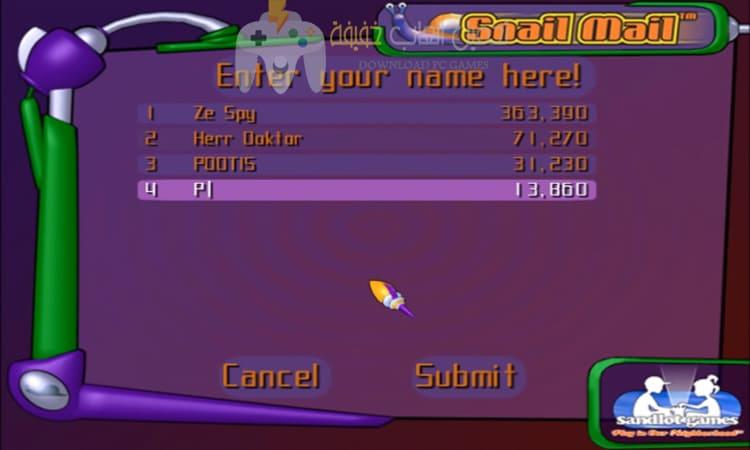 تحميل لعبة الدودة الشقية Snail Mail