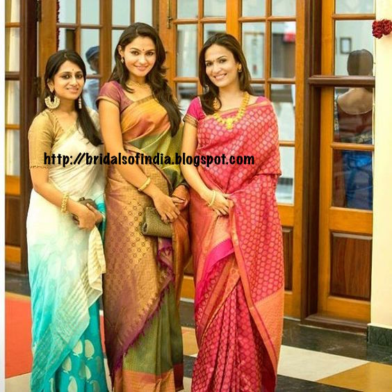 Andrea Jeremiah And Soundarya Rajinikanth In Silk Saree