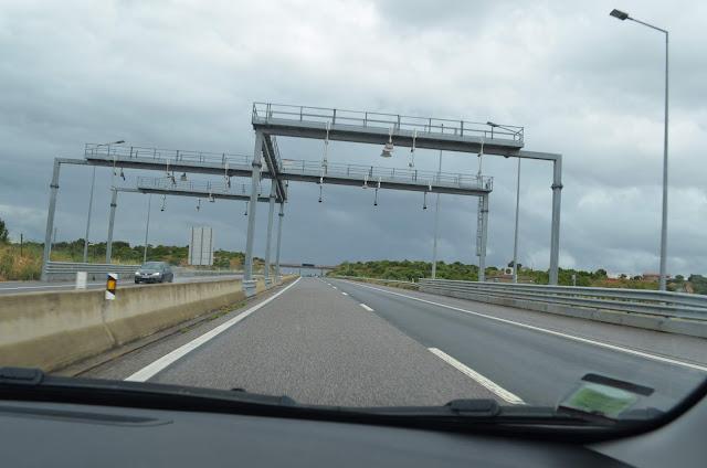 Pedágio nas estradas do Algarve em Portugal
