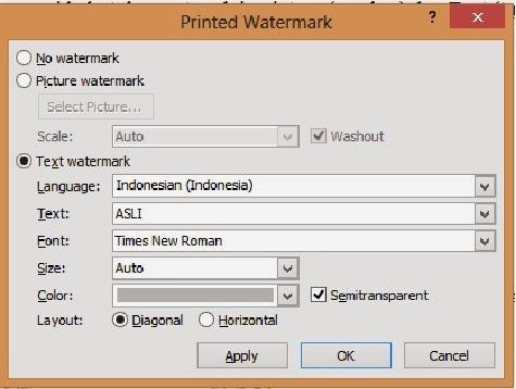 cara membuat watermark gambar dengan text