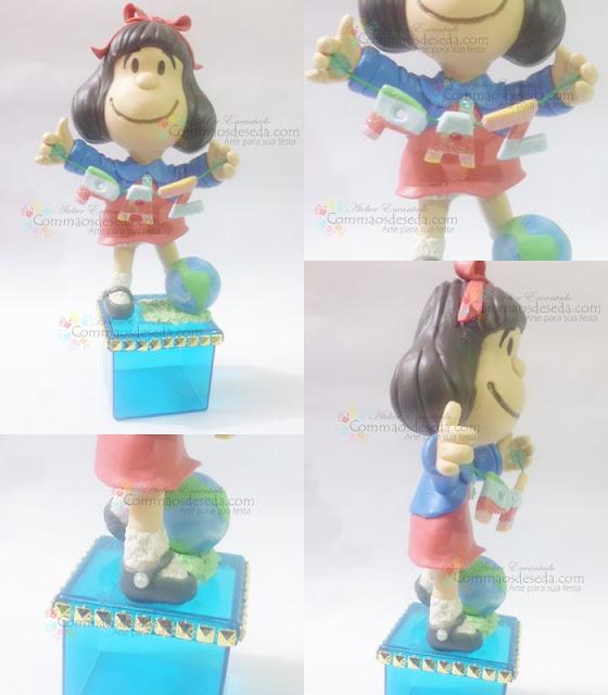 Lindinha Mafalda de biscuit,