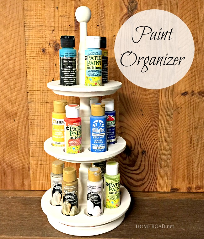 Repurposed Craft Paint Organizer www.homeroad.net
