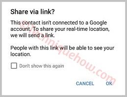 Google Maps Location sharing sms