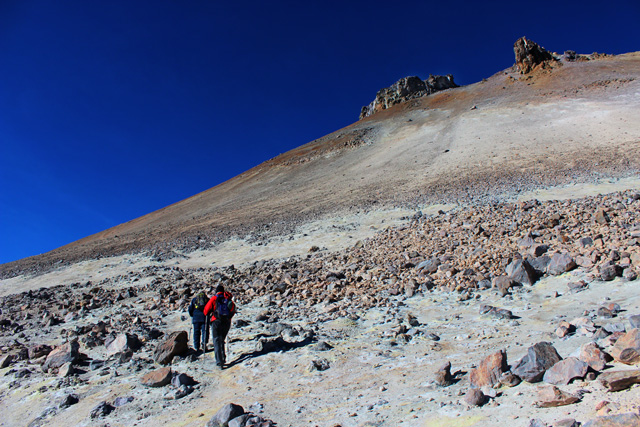 El Uturuncu es un volcán semidormido, con fumarolas activas