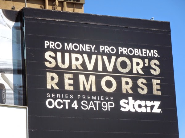 Survivor's Remorse gold foil logo billboard
