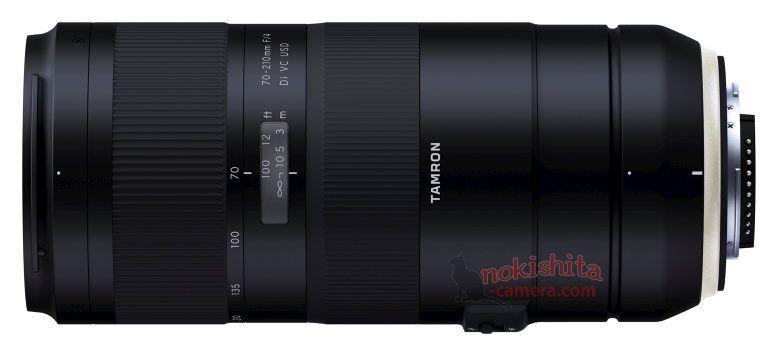 Tamron 70-210mm f/4 Di VC USD, вид сбоку