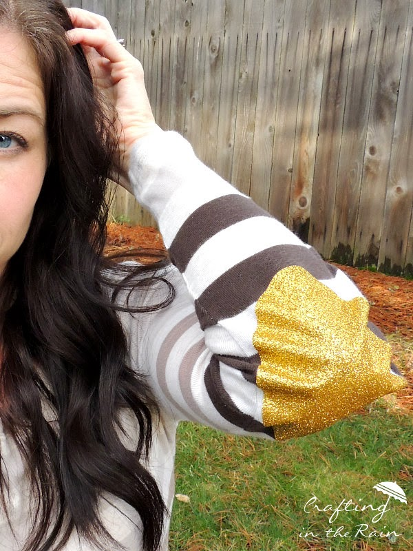 Diy Glitter Elbow Patches Crafting In The Rain