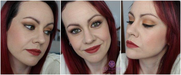 Maquillaje naranja y marrón
