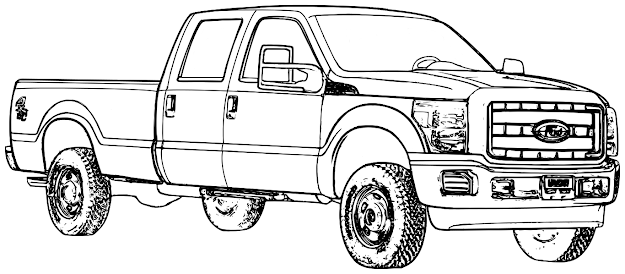 Beautiful Truck Coloring Page  On Coloring Print With Truck Coloring Page