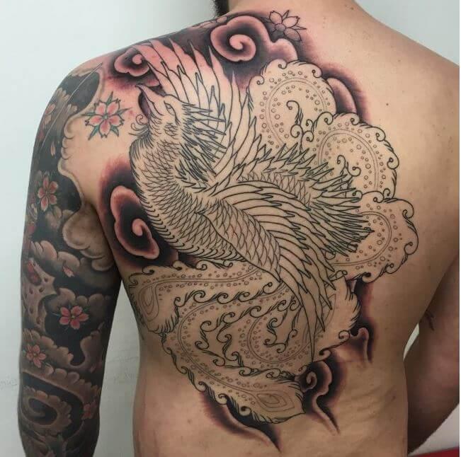 Outline Phoenix Tattoo