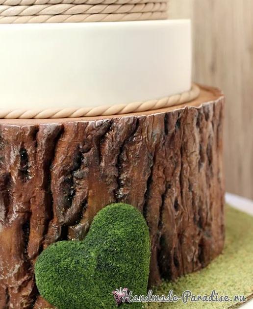 3D торт лесной тематики из сахарной мастики (12)