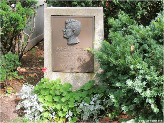 Placa Casa de Nacimiento de Jonh F. Kennedy en Brookline