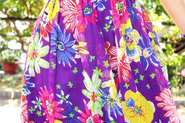 Purple floral print