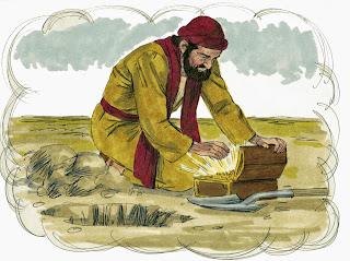 Resultado de imagen para La parábola del tesoro escondido en el campo.
