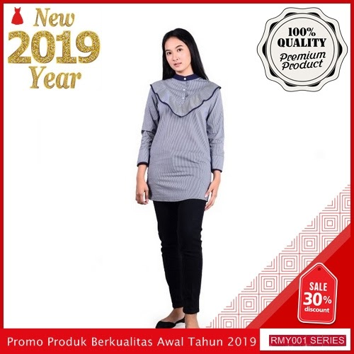 RMY074C31 Chapter 9 Dress Katun Keren Salur Bianca BMGShop