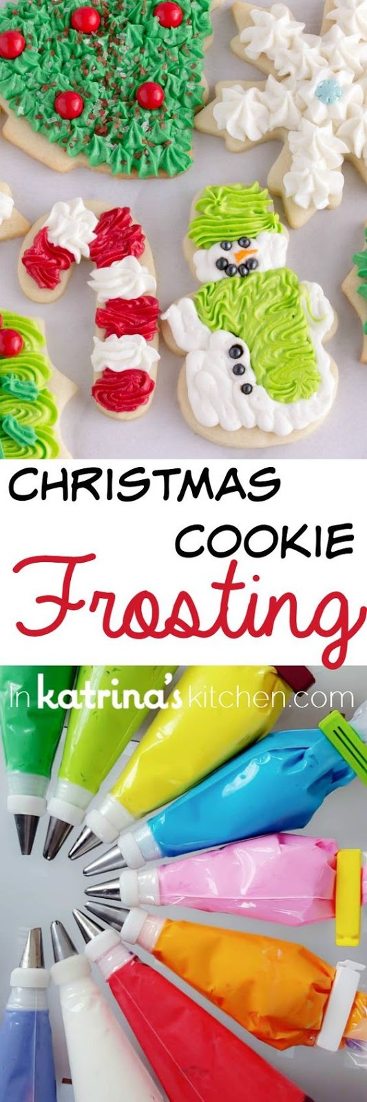 I've been perfecting my Christmas Sugar Cookies (cut outs) for 20+ years. This is the Christmas Cookie Frosting recipe I use to top them!