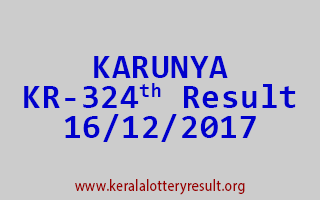 KARUNYA Lottery KR 324 Results 16-12-2017