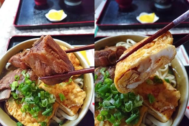 本ソーキと玉子焼きの写真