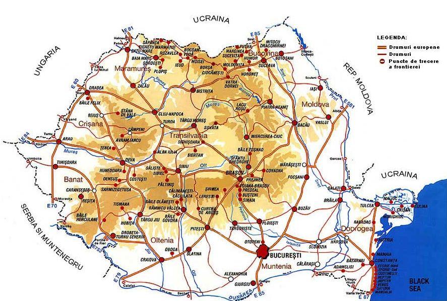 Cazare Si Turism Harta Turistica A Transilvaniei