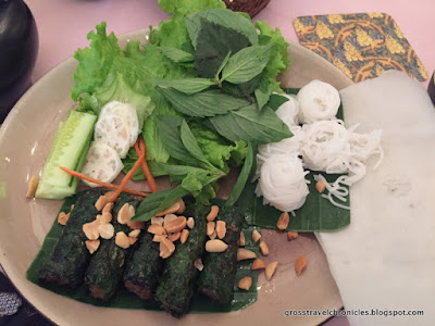Roll Your Own Spring rolls at Hoa Tuc, Saigon