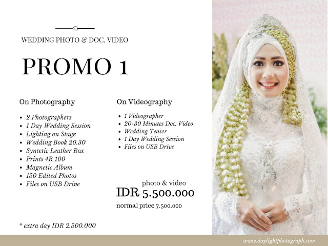 Promo Wedding Photo & Video Yogyakarta 2018