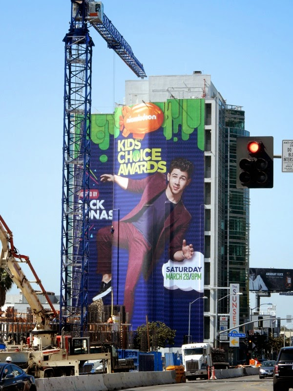 Giant Nick Jonas Kids Choice Awards 2015 billboard