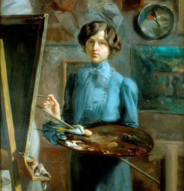 Irma Fontana Rossaro, Self Portrait, Portraits of Painters, Fine arts, Portraits of painters blog, Paintings of Irma Fontana Rossaro, Painter Irma Fontana Rossaro