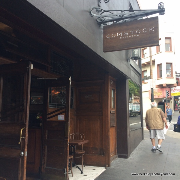 exterior of Comstock Saloon in San Francisco, California