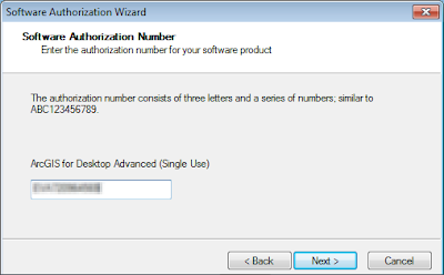 ArcGIS Administrator - Software authorization number