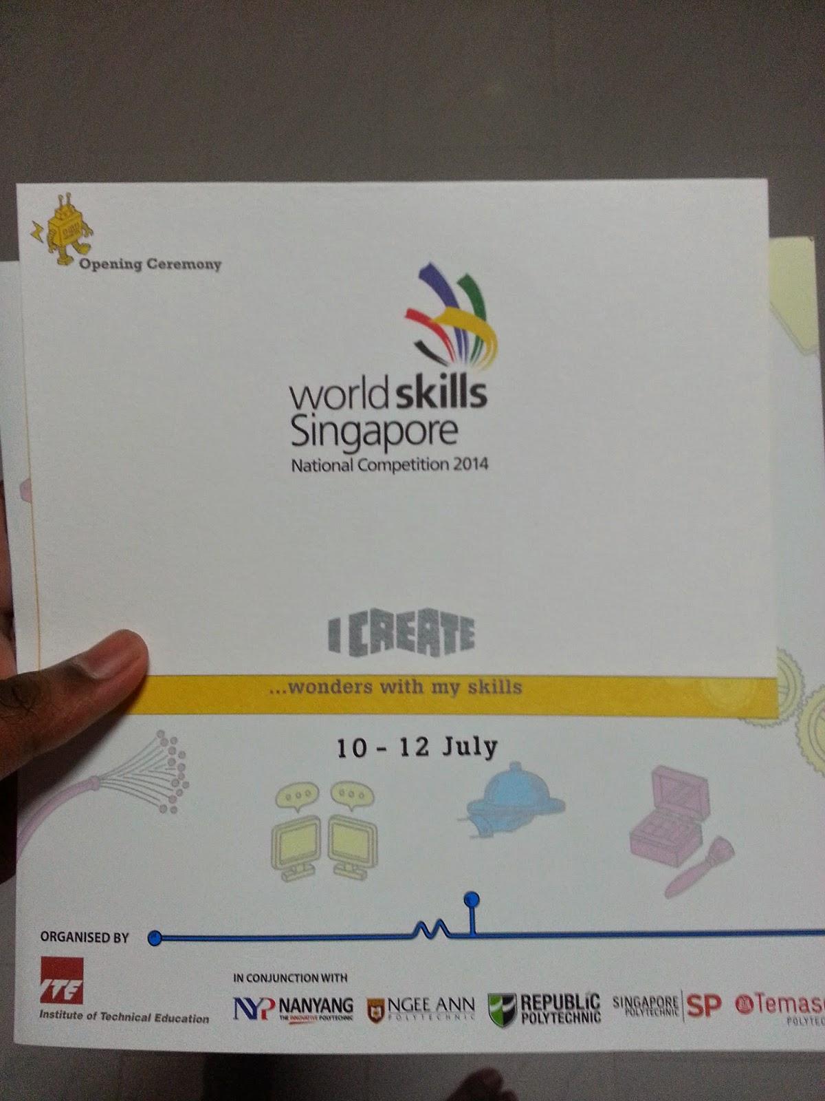 V3SSV14: WorldSkills Singapore (Day 1)