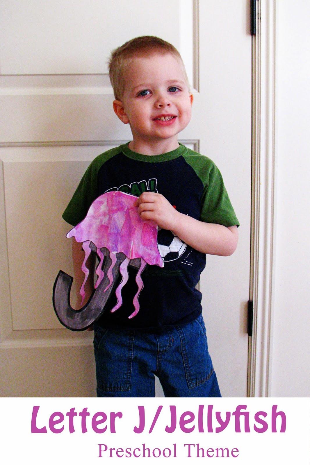 Mommy S Little Helper Letter J Jellyfish Preschool Theme