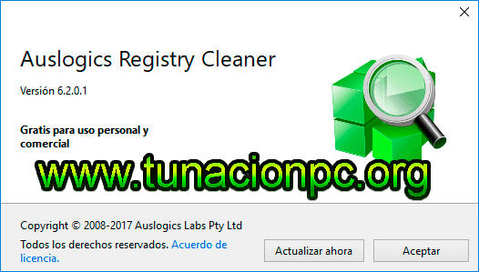 Auslogics Registry Cleaner, Limpiador del Registro Windows