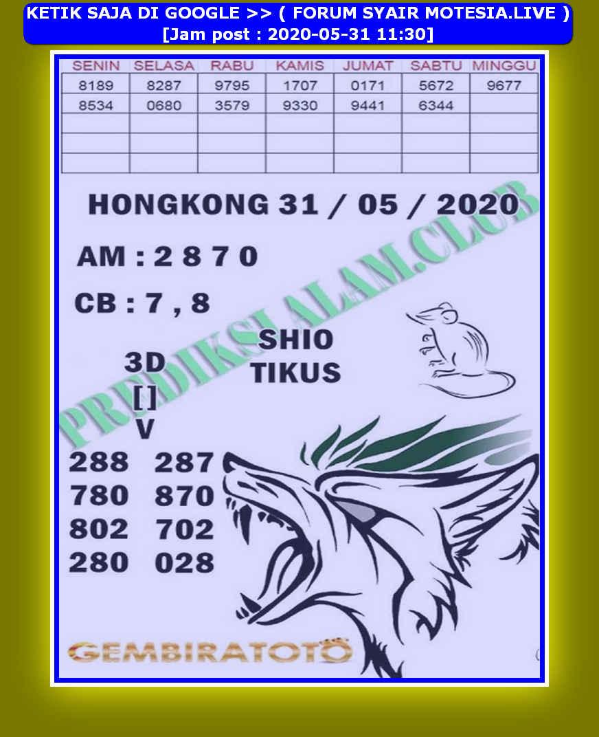 Kode syair Hongkong Minggu 31 Mei 2020 211