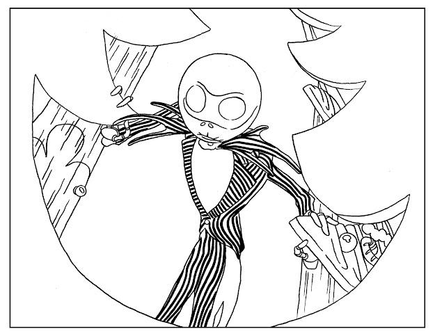 Nightmarebeforechristmasadultcoloringbookpage Free To Print