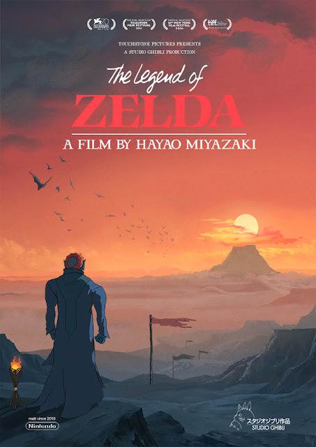 Trzeci plakat filmu The Legend of Zelda Studia Ghibli z Ganondorfem