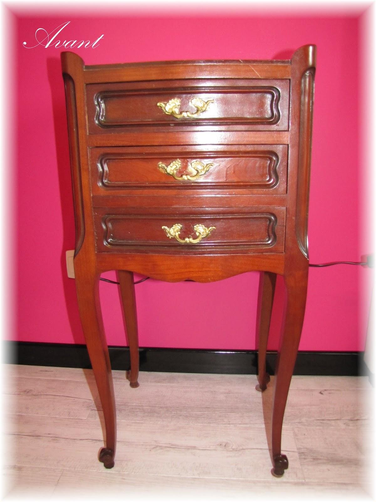 le petit monde merveilleux de mel le relooking de meubles. Black Bedroom Furniture Sets. Home Design Ideas
