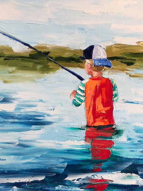 Kendall Kirk Singleton Child Fishing | The Lowcountry Lady