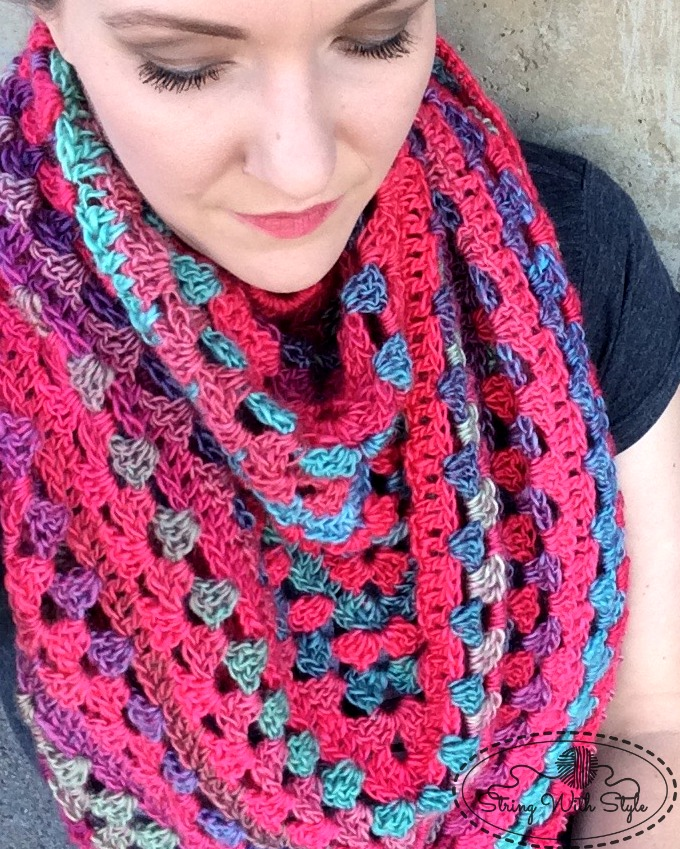 String With Style Granny Stitch Triangle Scarf