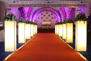 Aisle decor for christian wedding kochi kerala india