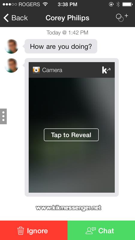 Gestiona de manera correcta los nuevos mensajes que lleguen en Kik