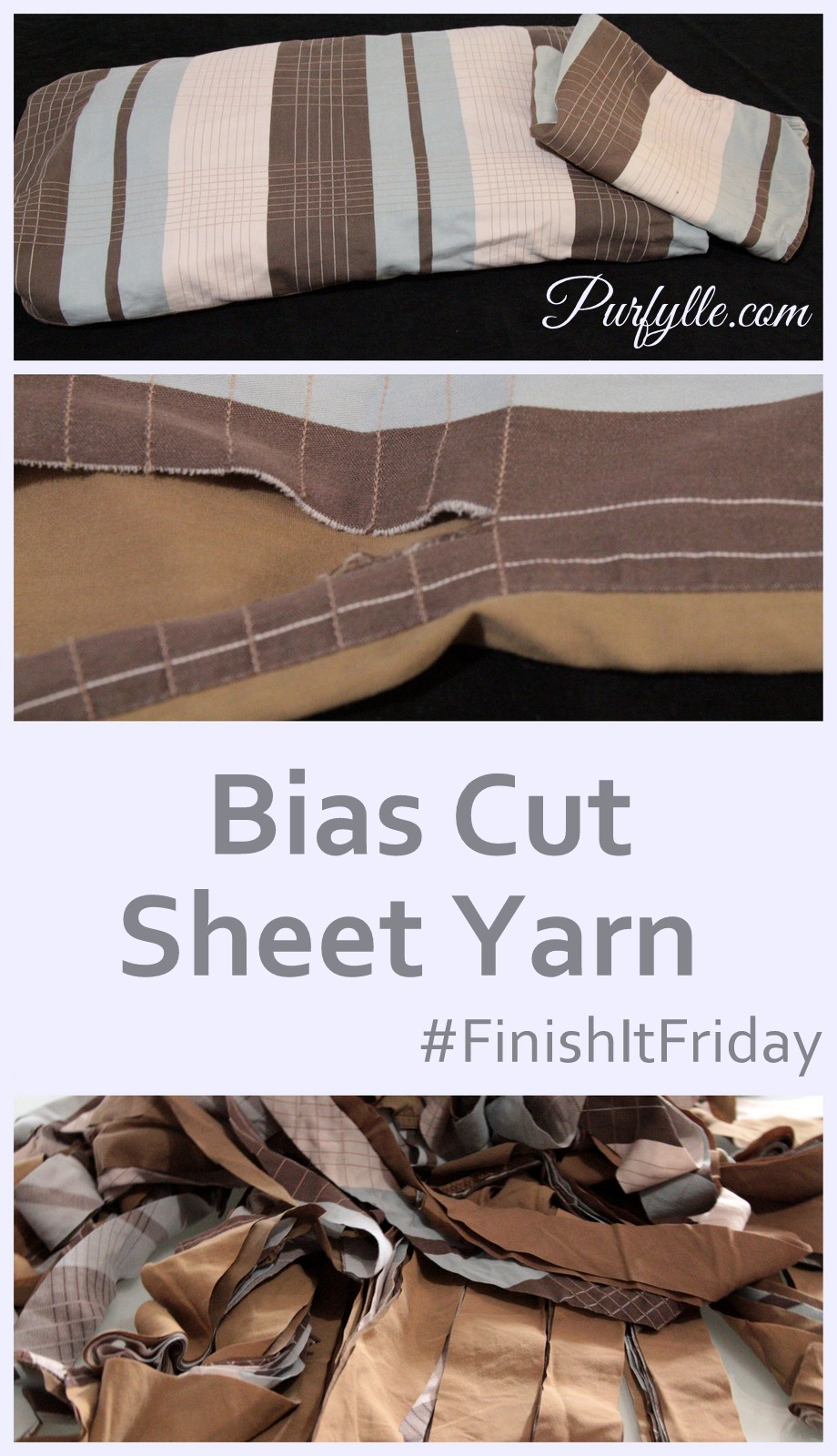 Bias Cut Sheet Yarn Rug #FinishItFriday