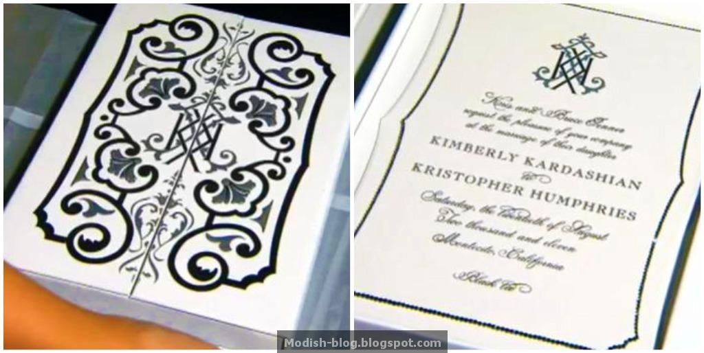 Kim Kardashian Wedding Invitation: Modish Blog: Kim Kardashain's Wedding Invitation & More