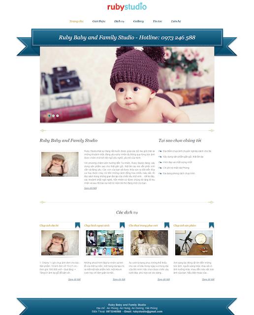 thiết kế website studio chụp ảnh