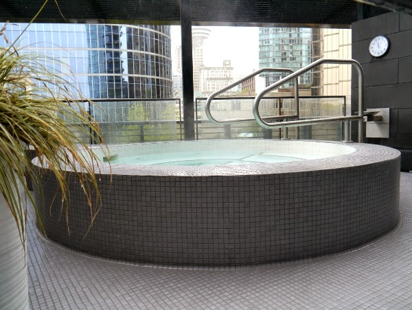 Jacuzzi at the Fairmont Pacific Rim Willow Stream Spa