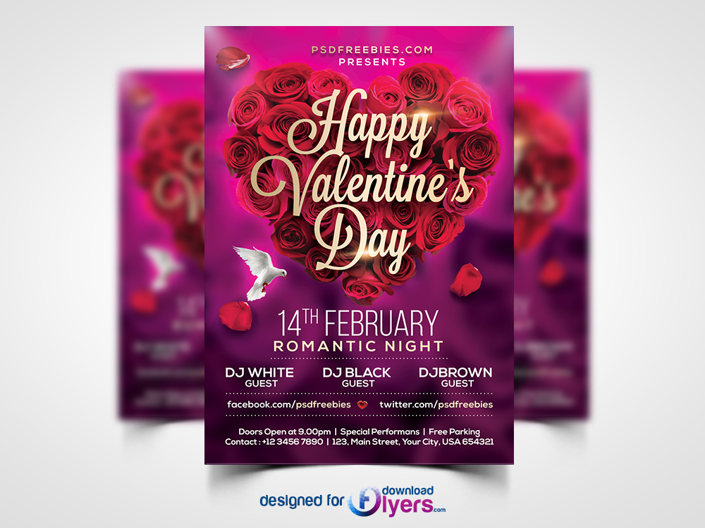 ... Chinese, Chinese New Year 2018, Happy New Year, New Year, New Year  2018, 2018, Year Of The Dog Valentines Day Flyer Template Free PSD By  Flyerpsd