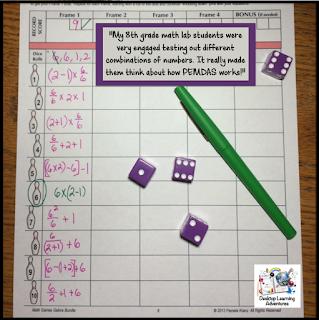 PEMDAS Bowling - a fun math challenge