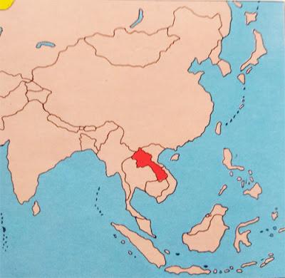 Gambar Peta letak Negara Laos