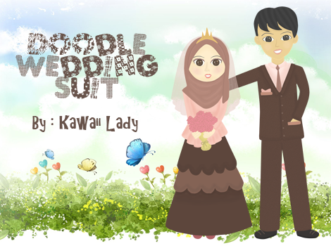 Muslimah doodle, Doodle wedding