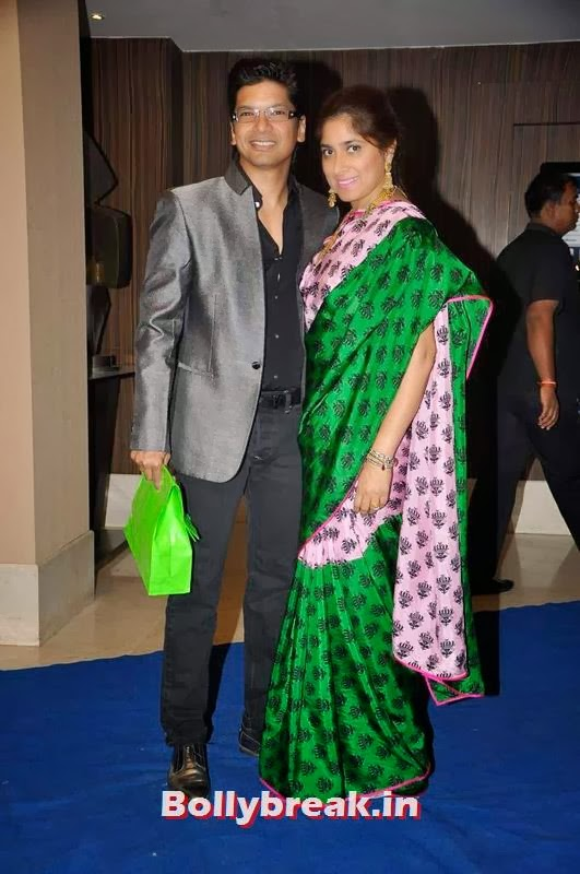 Shaan and his wife, Sophie, Manjari at Toshi Sabri's Wedding Pics
