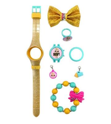 Золотистые наручные часы Лол Сюрприз